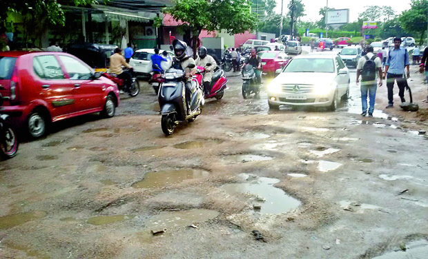 KTR admits that the roads in Hyderabad are