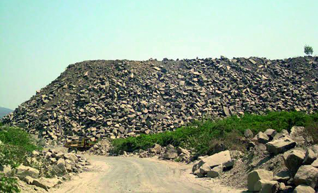 Granite owners flout norms in ongole - Rd wastebasket ...
