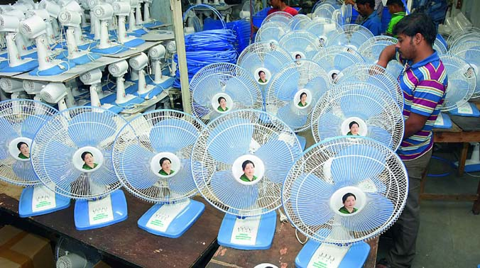 Amma Fans For Tamil Nadu Are Made In Hyderabad