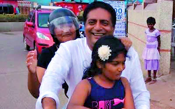 Prakash Raj, the doting dad