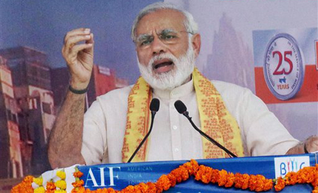 AJA will hold a protest at the SAP Center on September 27, 2015 under the banner #ModiFail (Photo: PTI)