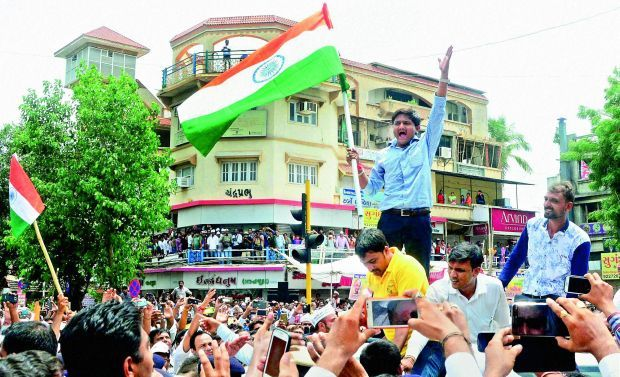 Hardik Patel and other PAAS leaders held marathon meetings with local Patel leaders, student groups and Patel businessmen here, as part of the second phase of their agitation. (Photo: PTI)