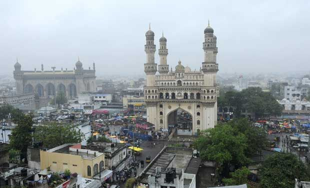 about hyderabad city essay Golconda fort is located in the western part of hyderabad city and is about 9 km  from the hussain sagar lake the outer fort occupies an area of three square.