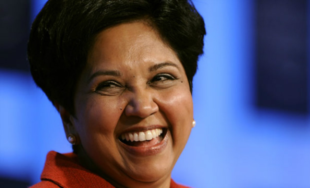 <b>Indra Nooyi </b> is an Indian-American businesswoman and the CMD of PepsiCo. She joined PepsiCo in 1994 and had risen through the ranks to arrive at her current position. She is a regular in 'most powerful women' lists.