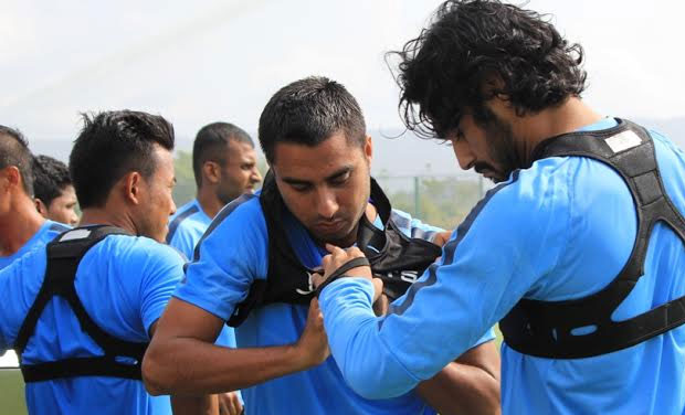 Indian Footballers Wear Gps System In Camp Ahead Of Wc