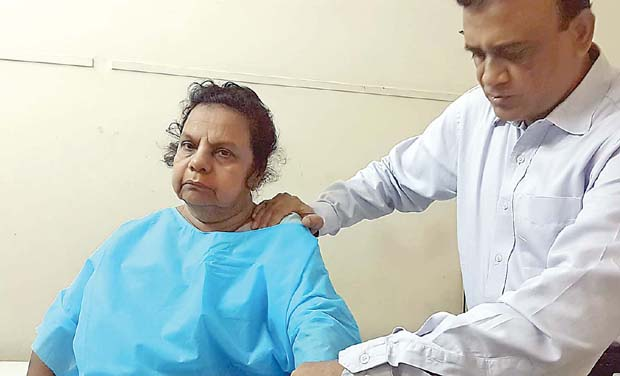 Patient P. Nair with Dr A.K. Venkatachalam after the surgery. (Photo: DC)