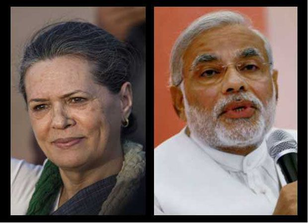 Congress chairperson Sonia Gandhi and BJP's prime ministerial candidate Narendra Modi  (Photo: DC archives)