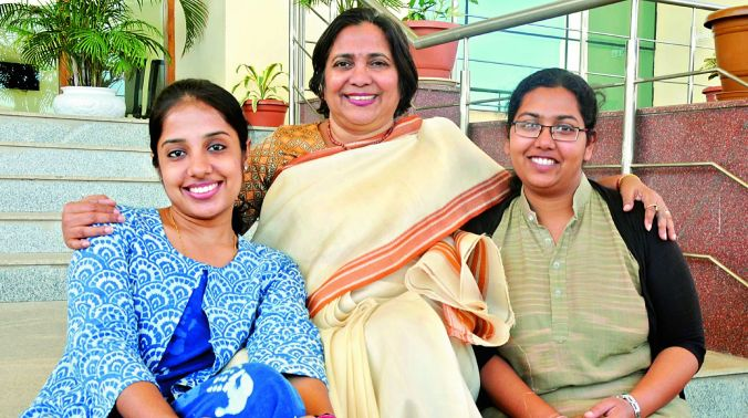 (From left) Shivani Gupta, Dr Suman Kapur and Anuradha Pal have created a quicker and cheaper diagnostics device for Urinary Tract Infections