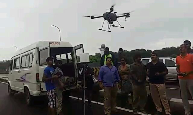 Drones were used extensively in areas like Tambaram, Defence Colony and Pallikaranai to locate and rescue people stranded in the floods. (Photo: DC)