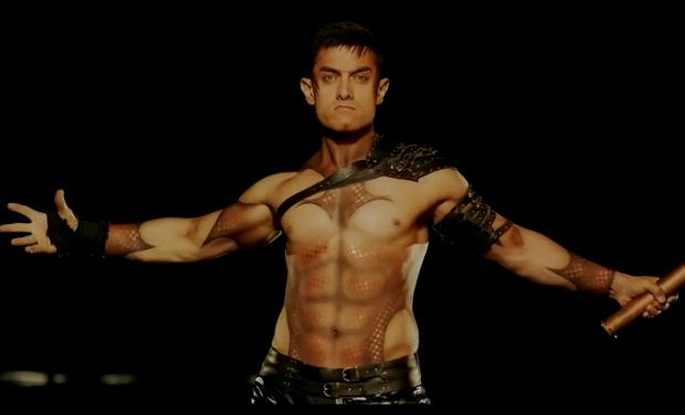 Amir Khan shirtless in dhoom 3