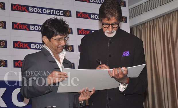 KRK posted a bad review on the film 'Happy New Year' on his micro blogging site recently, he even went on to post a video of the same. However that didn't seem to bother Amitabh.