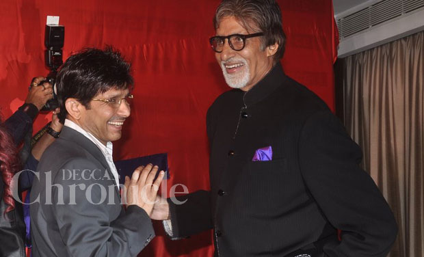 KRK who is starting his own website, had the Bollywood superstar over to grace the event.