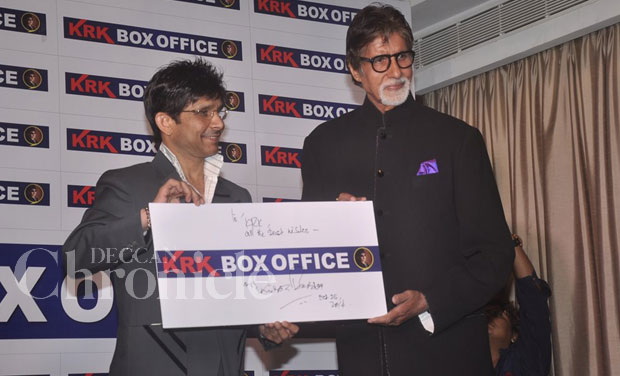 Big B didn't go all out to defend 'HNY' just because his son Abhisekh Bachchan also stars in the film, but instead chose to say that KRK speaks from his heart, and that he was free to voice his opinion.