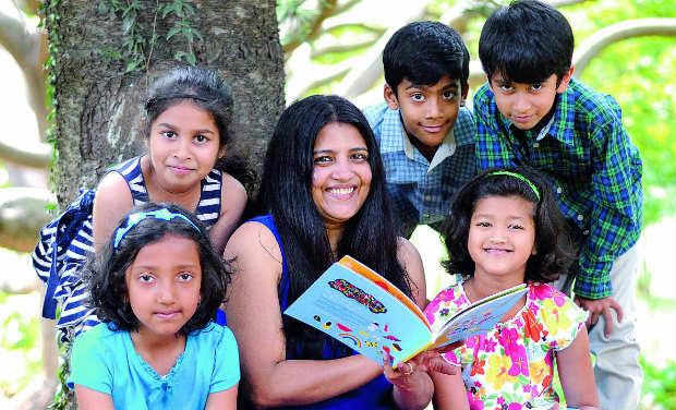 (Clockwise) Inaara, Vidur, Dhruv, Keya, Aparna and Layaa.