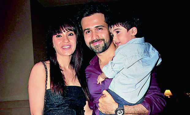 Emraan with his wife and son