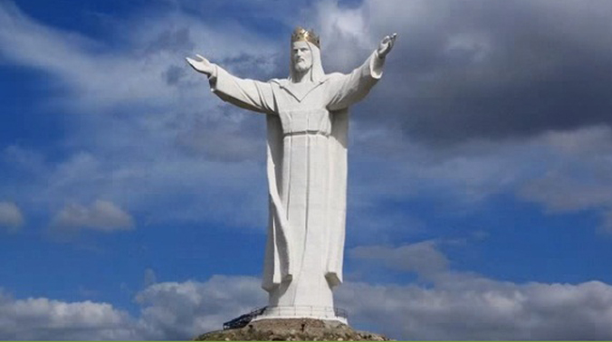 This statue is 8.53 metre tall. (Photo: Screen grab)