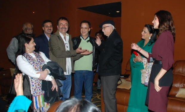 LK Advani was all smiles after the screening of the film.