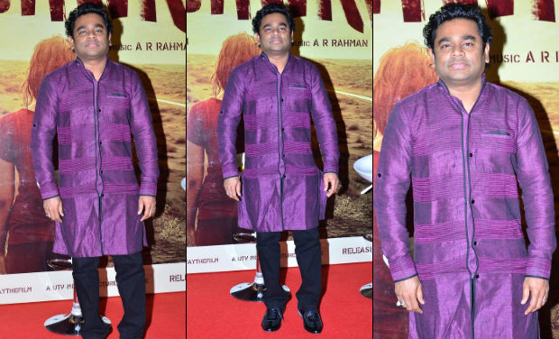 AR Rahman at the trailer launch of 'Highway'.