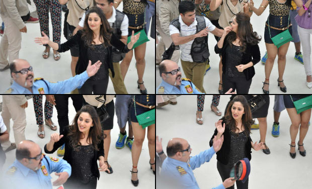 was this part of the dance routine, or did Madhuri encounter trouble?