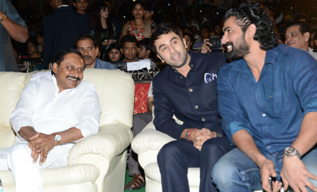 Kiran Kumar Reddy, Ranbir Kapoor and Rana Daggubati at the inaugural function of 18th International Children's Film Festival of India.