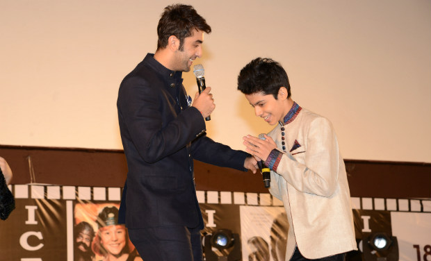 Ranbir Kapoor and Darsheel Safary at the inaugural function of 18th International Children's Film Festival of India.