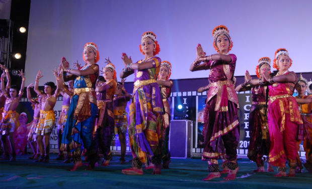 Children perform a classic dance at the inaugural function of 18th International Children Film Festival.