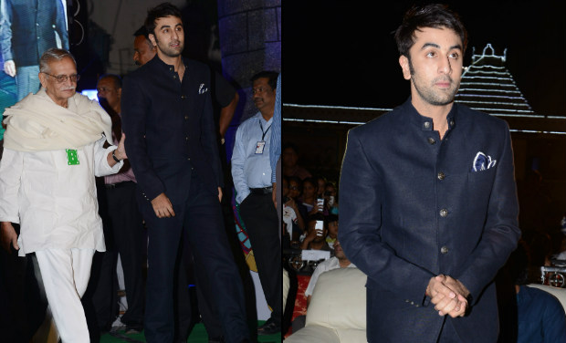 Ranbir Kapoor escorts Gulzar to the inaugural function of 18th International Children's Film Festival of India at Lalitakalathoranam on Thursday.