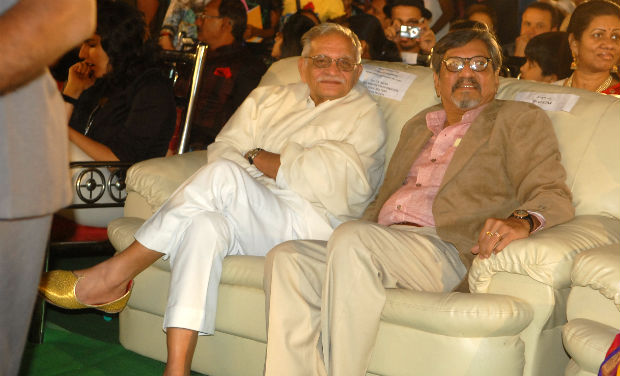 Gulzar and Amol Palekar during the inaugural function of the 18th International Children Film Festival.