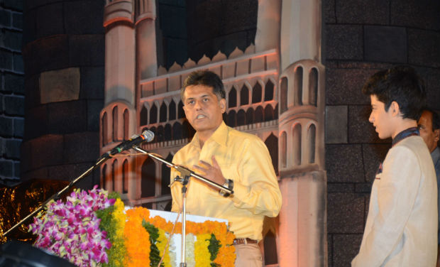 Manish Tewari speaks during the inaugural function of 18th International Children's Film Festival of India.