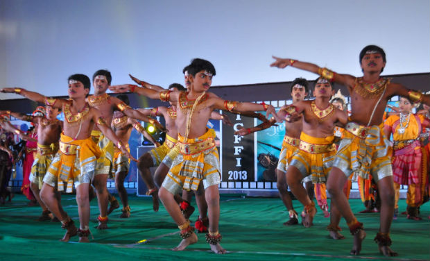Children perform at the inaugural function of 18th International Children's Film Festival of India.
