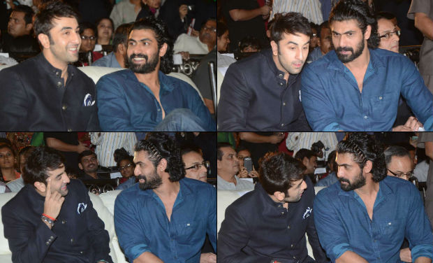 Ranbir Kapoor and Rana Daggubati interact and bond at the inaugural function of 18th International Children's Film Festival of India.