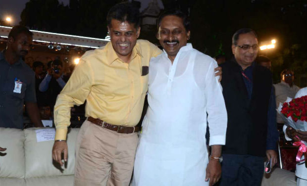 Manish Tewari and Kiran Kumar Reddy at the inaugural function of 18th International Children's Film Festival of India.