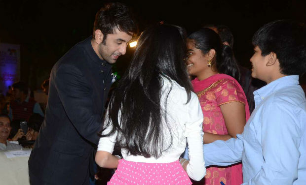Ranbir Kapoor interacts with fans at the inaugural function of 18th International Children's Film Festival of India.