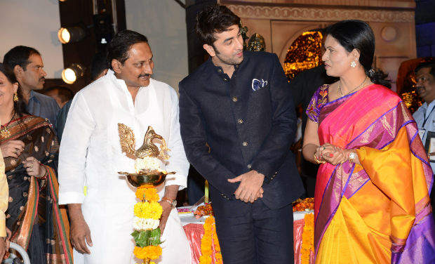 Kiran Kumar Reddy, Ranbir Kapoor and D K Aruna interact during the inaugural function of 18th International Children's Film Festival of India at Lalitakalathoranam on Thursday.
