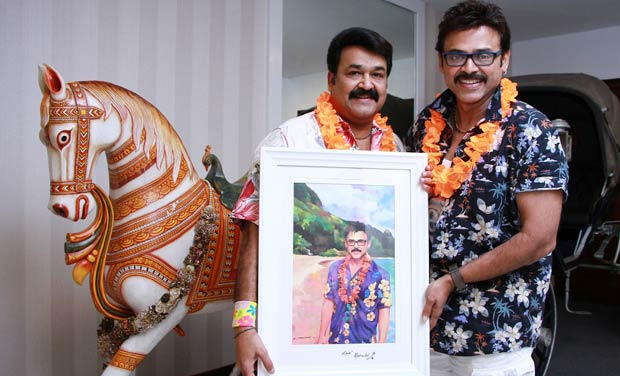 Mohanlal with Venkatesh