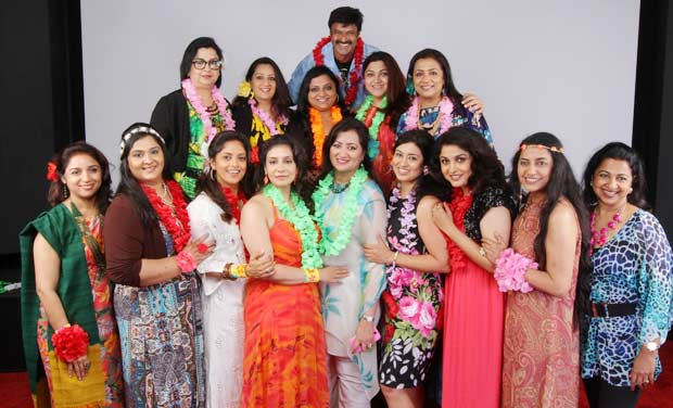 Nandamuri Balakrishna poses with the women