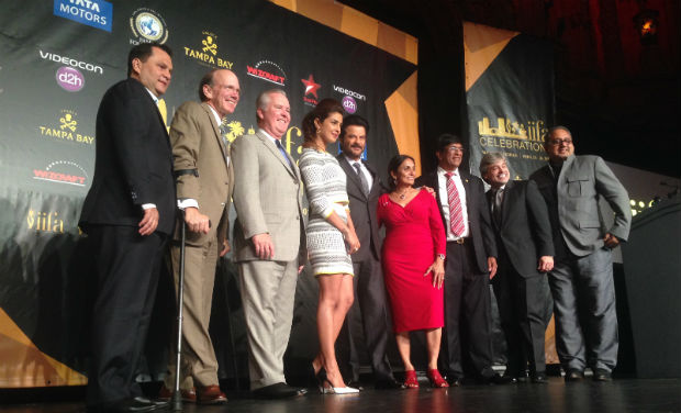 Anil Kapoor and Priyanka Chopra at IIFA press conference, Tampa Bay.