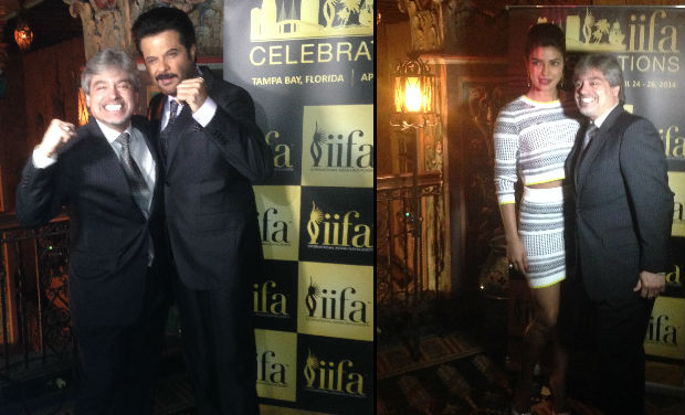 Anil Kapoor and Priyanka Chopra were spotted at IIFA press conference, Tampa Bay.