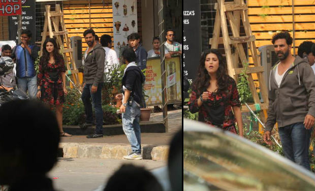 Guess what? That was just reel life! Akshay Kumar and Shruti Hassan were on location, shooting for a film.