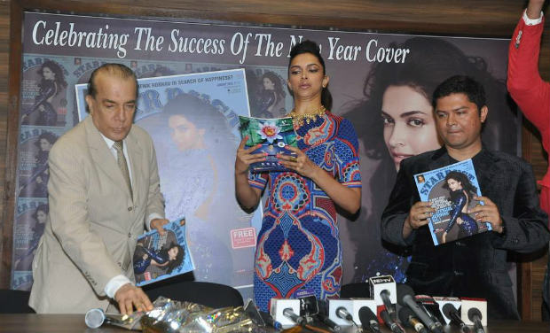 Was Deepika unhappy with the cover of Stardust?
