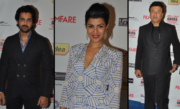 Arjan Bajwa, Nirmat Kaur, Anu Mallik at Filmfare Awards Nomination bash.