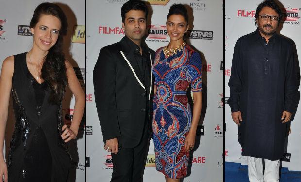 Kalki Koechlin, Karan Johan, Deepika Padukone, Sanjay Leela Bhansali at Filmfare Awards nomination bash.