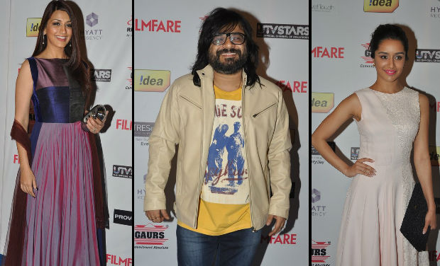 Sonali Bendre, Pritam, Yami Gautam at Filmfare Awards nomination bash.