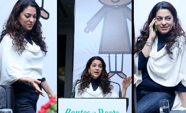 Juhi Chawla was spotted at the launch of the programme,