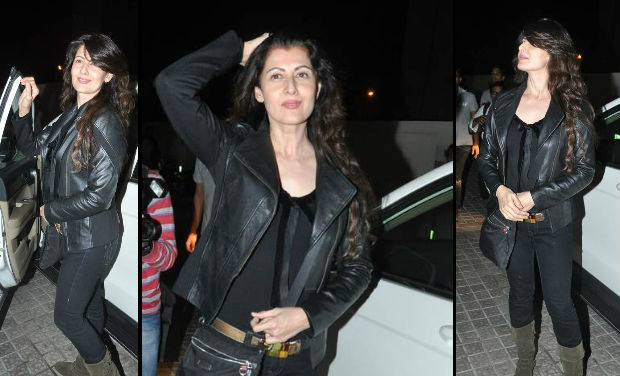 Salman Khan's ex-flame, Sangeeta Bijlani, was also spotted at PVR, Mumbai.