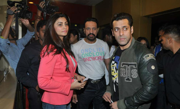 Salman Khan was spotted at PVR, Mumbai, with his 'Jai Ho' co-star, Daisy Shah.