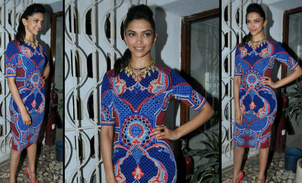 Deepika Padukone was spotted at the cover launch of the magazine, Stardust.
