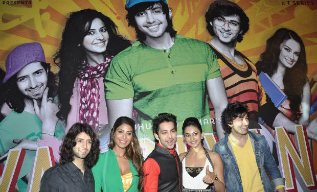 Nicole Faria, Himansh Kohli, Rakul Preet Singh at 'Yaariyan' success bash.