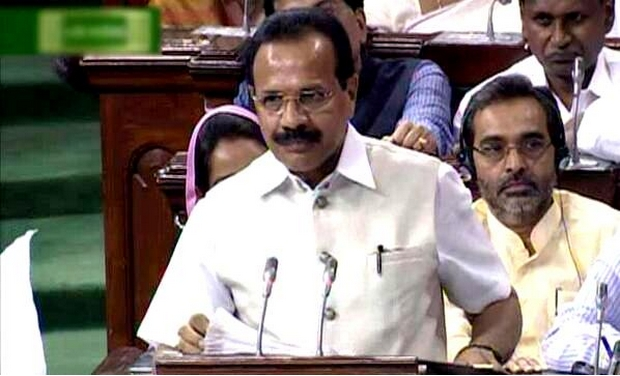 Railway Minister Sadanand Gowda presenting the Rail Budget in the Lok Sabha (Photo: TV grab)