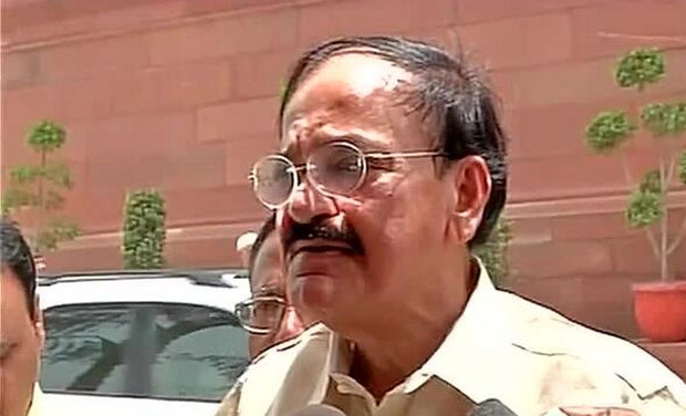 The Rail Budget is comprehensive and realistic, this Govt will complete ongoing projects on priority: Venkaiah Naidu (Photo: ANI Twitter)